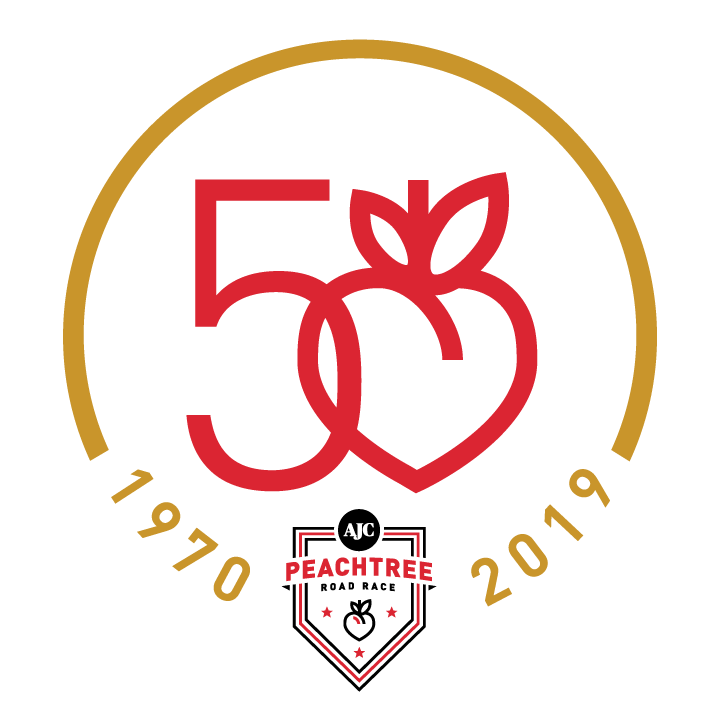 Peachtree Road Race on 4th of July - 50th Anniversary