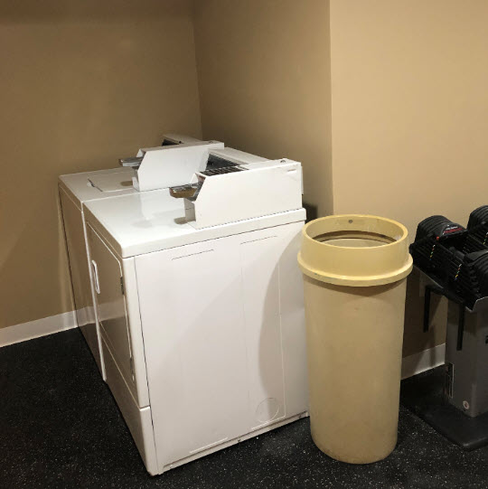 The Crestwood washer and dryer are ready for use.